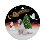 NightFlight-Clumber Spaniel Ornament (Round)
