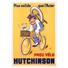 Advertisement for Hutchinson tyres, c.1937 (colour