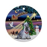 Xmas Magic - Cesky Terrier Ornament (Round)