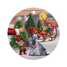 Treat for a Cesky Terrier Ornament (Round)