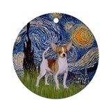 Starry Night - Chihuahua (brn-wh) Ornament (Round)