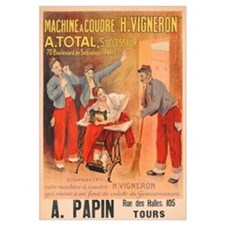 'Machine a Coudre H. Vigneron', poster advertising