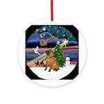 XmasMagic-SharPei Ornament (Round)
