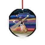 XmasAngel-SharPei Ornament (Round)
