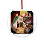 Santa & his Chinese SharPei Ornament (Round)