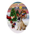Treat for a Chinese SharPei Ornament (Oval)
