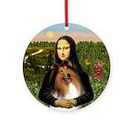Mona Lisa's Collie (#1) Ornament (Round)