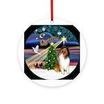 Xmas Magic - Sable & White Collie Ornament (Ro
