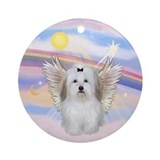 Clouds - Coton de Tulear Ornament (Round)