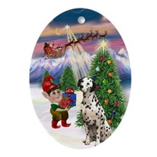 Take OFf - Dalmatian Ornament (Oval)