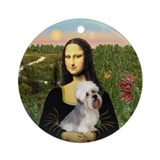 Mona Lisa's Dandi Dinmont Ornament (Round)