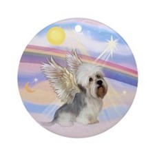 Dandi Dinmont Angel Ornament (Round)