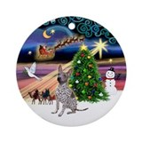 XmasMagic-Amer Hairless T Ornament (Round)