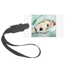 Napping Wire Fox Terrier Luggage Tag