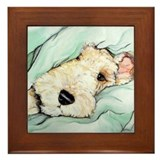 Napping Wire Fox Terrier Framed Tile