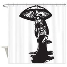Geisha Girls Shower Curtains | Geisha Girls Fabric Shower Curtain