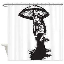Geisha Girls Shower Curtains | Geisha Girls Fabric Shower Curtain