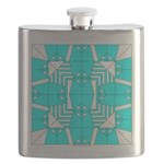 Cyan Owls Design Flask