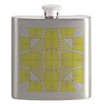 Yellow Owls Design Flask