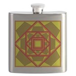 Brown Shield Design Flask