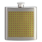 Yellow Latticework Flask