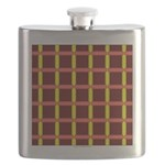 Orange And Yellow Latticework Flask