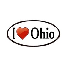 I Love Ohio Patches