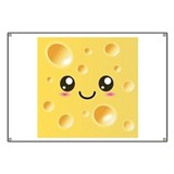 Cute Kawaii Happy Cheese Banner