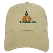 St. Simons Island - Lighthouse Design. Baseball Cap