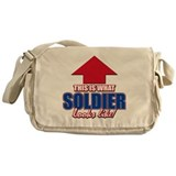 This is what Soldier looks like Messenger Bag