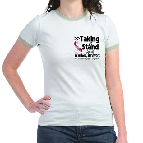 Stand Throat Cancer Jr. Ringer T-Shirt
