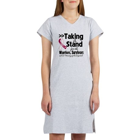Stand Throat Cancer Women's Nightshirt