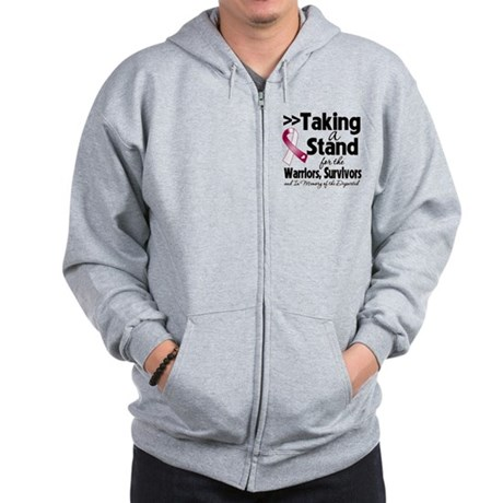 Stand Throat Cancer Zip Hoodie