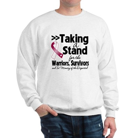 Stand Throat Cancer Sweatshirt