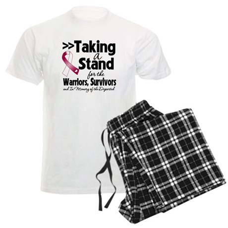 Stand Throat Cancer Men's Light Pajamas