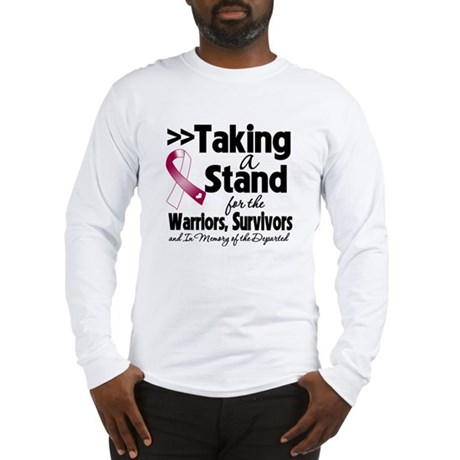 Stand Throat Cancer Long Sleeve T-Shirt