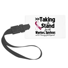 Stand Throat Cancer Luggage Tag
