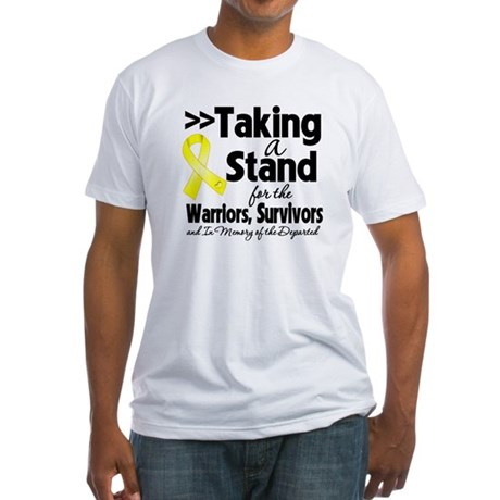 Stand Testicular Cancer Fitted T-Shirt