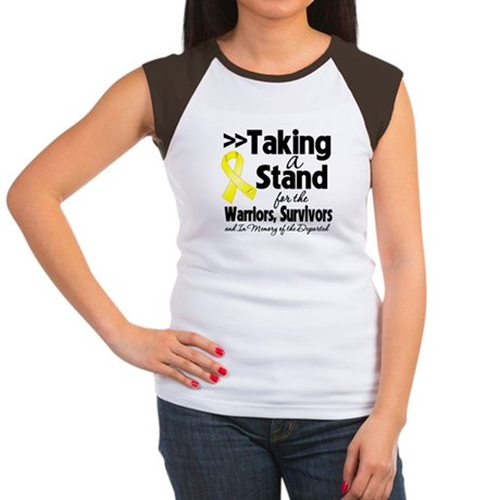 Stand Testicular Cancer Women's Cap Sleeve T-Shirt