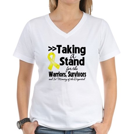 Stand Testicular Cancer Women's V-Neck T-Shirt