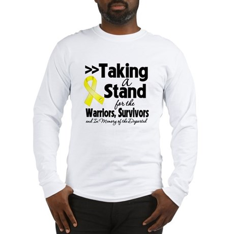 Stand Testicular Cancer Long Sleeve T-Shirt