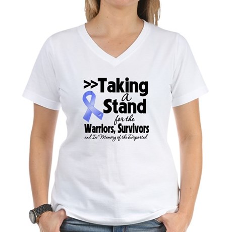 Stand Stomach Cancer Women's V-Neck T-Shirt