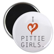 I heart Pittie girls. Magnet