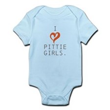I heart Pittie girls. Infant Bodysuit