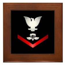 Navy PO3 Aircrew Survival Equipmentman Framed Tile