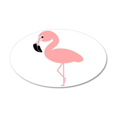 Flamingo 20x12 Oval Wall Decal