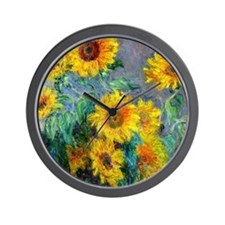 Monet - Sunflowers Wall Clock