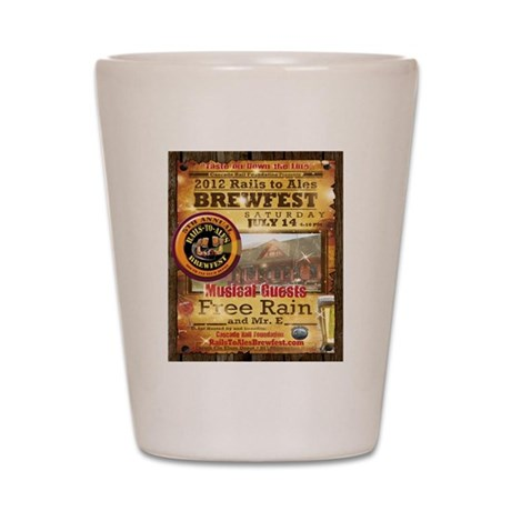 2012 Rails to Ales Brewfest Shot Glass