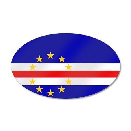 Cape Verde Flag 35x21 Oval Wall Decal
