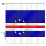 Cape Verde Flag Shower Curtain